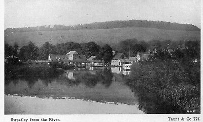 Old postcard of Streatley from the river, Berkshire