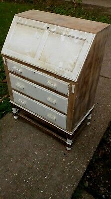 Oak Bureau upcycle project Shabby Chic
