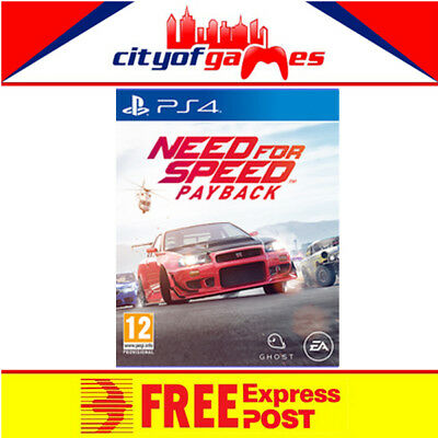 Need for Speed Payback PS4 Game New & Sealed Free Express Post In Stock