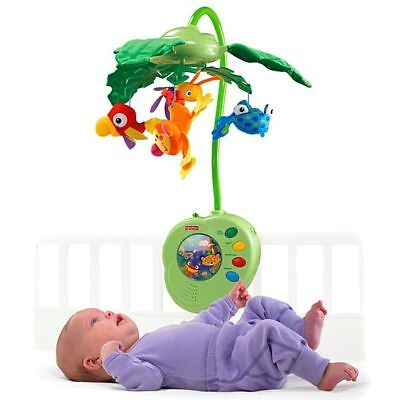 Fisher Price Rainforest Peek-a-Boo Leaves Musical Cot Mobile Forest Animals