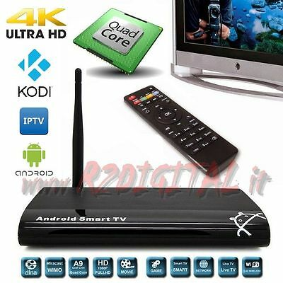 Android Caja Rk312X A9 Uhd Media Reproductor 4K Full Hd Wifi Lan Tv Smart Lector