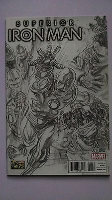 Superior Iron Man #1 Alex Ross 1:300 B&W Sketch Variant Marvel NM 9.4+