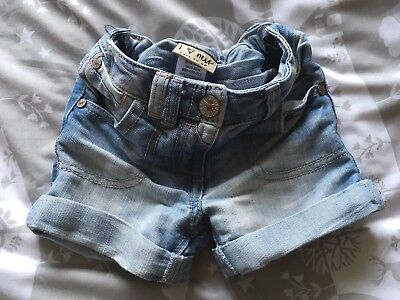 Baby Girls NEXT Denim Shorts 9-12 Months