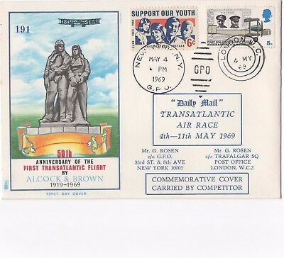 1969 FDC 50th Anniversary of The First Transatlantic Flight by Alcock&Brown