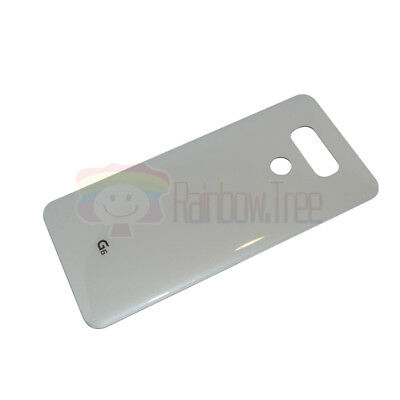 OEM White Battery Glass Cover Back Door With Tape For LG G6 H870 H872 LS993 G600