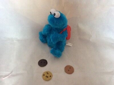 Great Hasbro Sesame Street Cookie Monster Talking Toy With Backpack Teddy