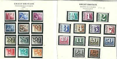 Qe11 Two Postage Due Sets Mint Not Hinged