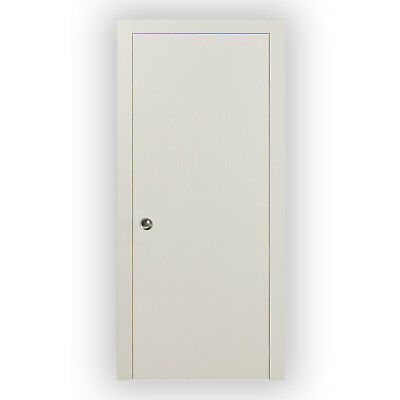 Planum 0010 Interior Pocket Closet WoodDoor Patina Antique with Frames Pulls