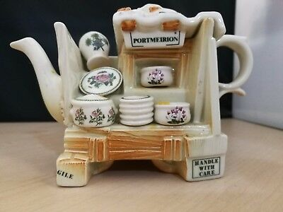 Paul Cardew Portmeirion China Stall Collectable Teapot