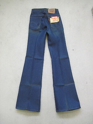 NOS 70s LEVI'S 602 BIG BELLS Denim Jeans Booty Flare Schlag Orange Tab e Flares