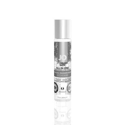 System Jo ALL IN ONE GLIDE MASSAGE Oil & Lubricant Sex Lube FRAGRANCE FREE 30ml
