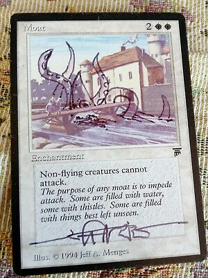Mtg Moat signed altered by artist Jeffers A. Menges