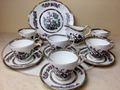 Duchess Indian Tree Tea Set 6 x Cups & Saucers Cake Plate Milk Jug Superb