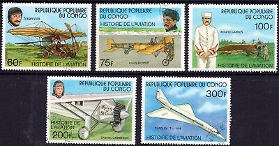 PLANES on stamps. CONGO 1977 Set of 5 CTO