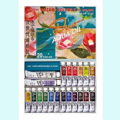 Holbein Oil Paint Water Aqua Oil Color 20 Colors Set Brand-New Japan