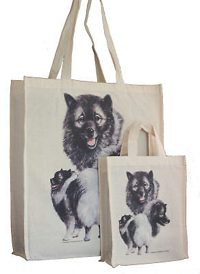 Keeshond Dog Adult & Child Shopping or Dog Treats Packed Lunch etc Tote Bag