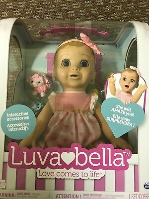 LuvaBella Luva Bella Interactive Baby Doll Blonde Girl Fast Shipping! In Hand!