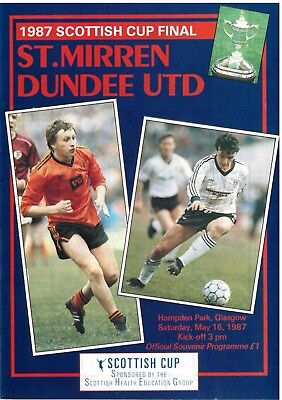 1987 SCOTTISH CUP FINAL ST.MIRREN v DUNDEE UTD