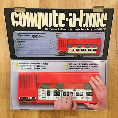 1978 Retro Waddingtons COMPUTE-A-TUNE Musical Computer Synth Keyboard w/ Memory