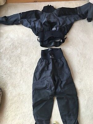 Yak Kaleva /  Nookie Dry Suit Canoe & Kayak Wetsuit Water Sport Black Used