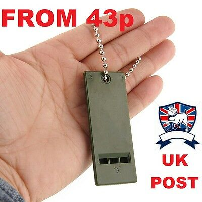 100Db Emergency Whistle Rescue 3 Tone Army Solas Marine Lifeboat Survival Plce
