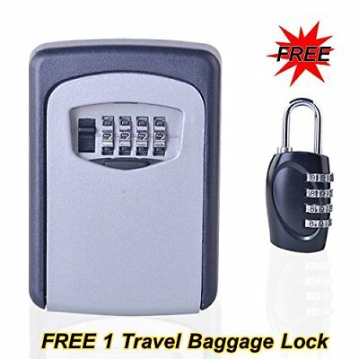 Beautys 101 Wall Mount Key Lock Box with 4-Digit Combination Safe Security Re...