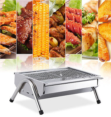 Stainless Steel Length 40CM Width 26CM Household Outdoor Portable Grill BBQ *