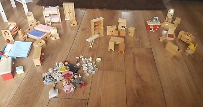 dolls house furniture bundle job lot wooden 50+ items