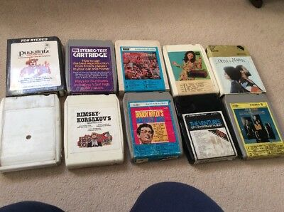 8 Track Cassettes Collection Of