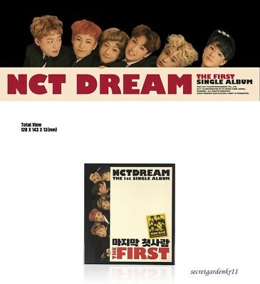 NCT DREAM THE FIRST Single Album MY FIRST AND LAST : CD+Photocard+Phoobook+Gift