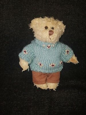 Russ Berrie Bear In Original Clothes