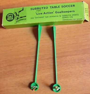 Subbuteo Vintage  Table Socer Live Action Goalkeepers - Set 123    10/17