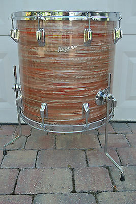 """ADD this RARE VINTAGE Rogers 16"""" PINK STRATA FLOOR TOM to YOUR SET! LOT #C32"""