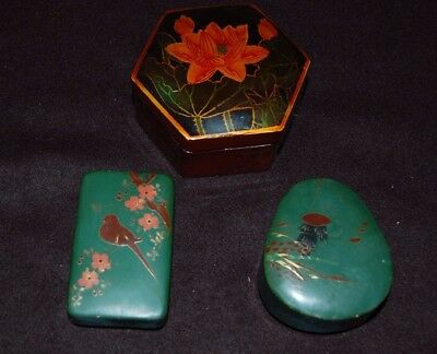 Trinket Boxes Laquered x3