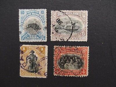North Borneo - A Selection Of Used Stamps