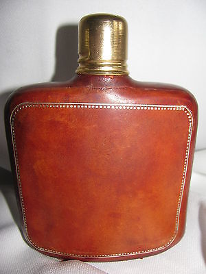 Collectibless  Bottel Covered Brown  Leather  With Double  Top Cover ( Italy)