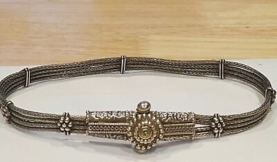 Vintage Imperial Russia Persian Sterling Silver Chocker Necklace Signed