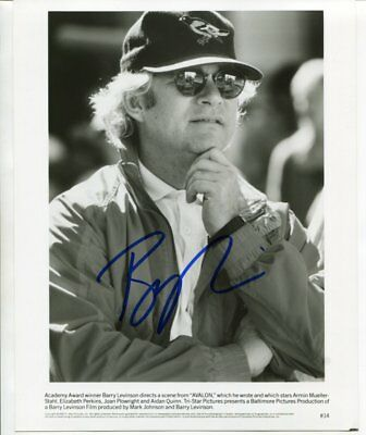 film director BARRY LEVINSON autograph HAND SIGNED 5313