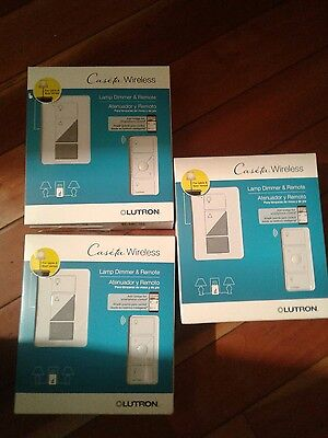 Three Caseta Wireless Lamp And Dimmer Remotes