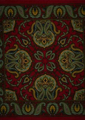 Silk Handkerchief Pocket Square Printed in Macclesfield England Paisley Rare