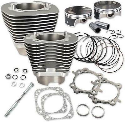 S&S Cycle Wrinkle Black 117 in. Big Bore Cylinder and Piston Kit - 910-0221