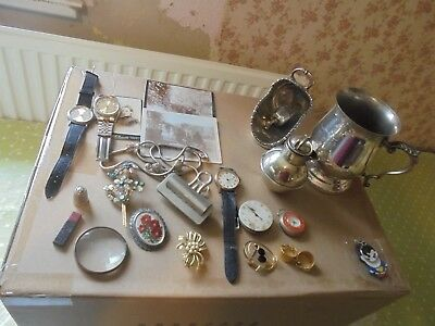 Vintage Collectable Job Lot Jewellery Photos Watches