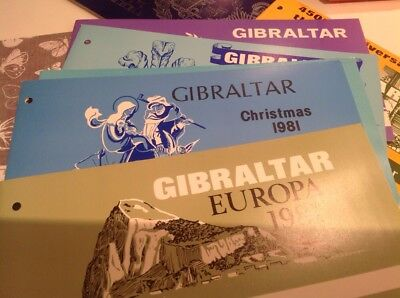 7 Gibraltar Presentation  Packs Of Stamps In Job Lot Bundle