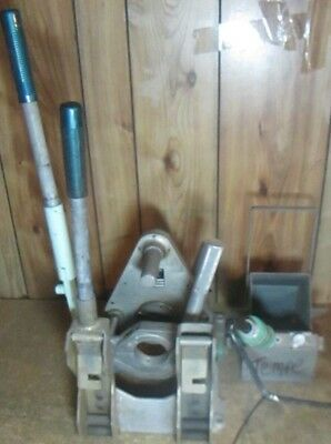 "McELROY PITBULL PIPE FUSION MACHINE 2"" WITH FACING AND HEATING IRON WORKS GR8!!!"
