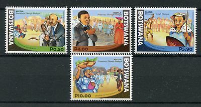 Botswana 2016 MNH Kgotla 4v Set Cultures & Traditions Ethnicities Stamps