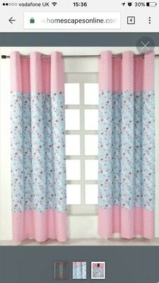 "Girls bedroom Curtains - Vintage Bird Style W (54"") x Drop  (72"")"