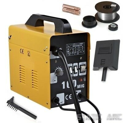 Gasless Mig 100 Welder Portable Welding Machine No Gas Flux Core - Used Once