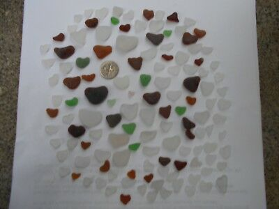 Beach Sea Glass HEARTS, straight from the beach! Authentic!