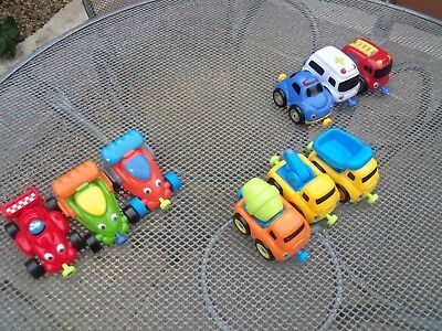 Elc Whizz Around Garage Vehicle Bundle - Racing Cars, Emergency & Construction