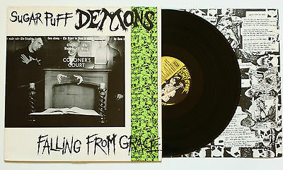Psychobilly LP ☠ RARE ☠ SUGAR PUFF DEMONS Falling from Grace (Link Records 1989)